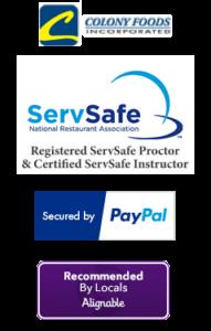 ServSafe PayPal Alignable logos
